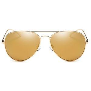 Calle Ocho - Polarized Gold Aviator Unisex Glasses
